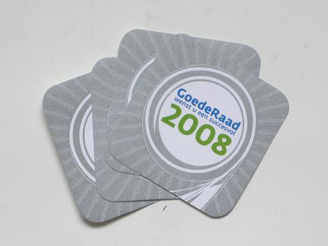 Corporate Identity for 'GoedeRaad voor ontwikkeling van commerciële organisaties' (coasters) / © Gabriele Franziska Götz
