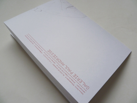 Invitation card 'Michael Landy' for Galerie Paul Andriesse / © Gabriele Franziska Götz