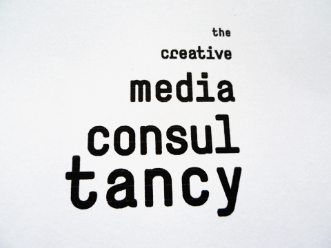 Corporate Identity for 'The Creative Media Consultancy', Amsterdam (stamp) / © Gabriele Götz