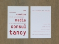 Corporate Identity for 'The Creative Media Consultancy', Amsterdam (business card) / © Gabriele Götz