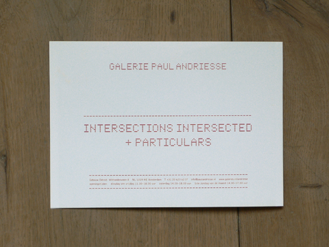 David Goldblatt: intersections intersected (invitation card) / © Gabriele Götz