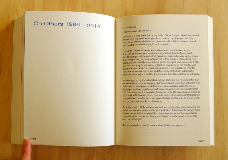 Marlene Dumas: 'Sweet Nothings. Notes and Texts 1982–2014' (spread) / © Gabriele Franziska Götz