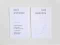 Galerie Andriesse-Eyck / business card 'Paul Andriesse' (front + back) / © Gabriele Franziska Götz