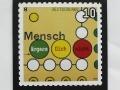 special issue stamp (commemorative stamp) »Mensch ärgere dich nicht« for 'Deutsche Post' / © Gabriele Franziska Götz