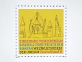 Stamp layout 'Kirchburg von Birthälm' (stamp series 'World Heritage Germany') for United Nations Postal Administration / © Gabriele Götz